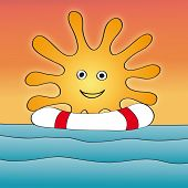 Постер, плакат: Море солнце