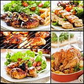 Colorful Chicken Meals Collage