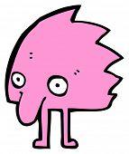 funny furry little creature cartoon poster