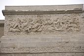 picture of gaul  - Frieze sculpture of Roman battle against the Gauls Arch of Triumph Orange France - JPG