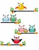 foto of guinea fowl  - vector illustration of birds on a flowering tree - JPG