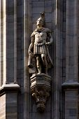 picture of castello brown  - a roman soldier in the front of the dome of milan - JPG