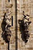 stock photo of castello brown  - statue in the front of the milan duomo - JPG