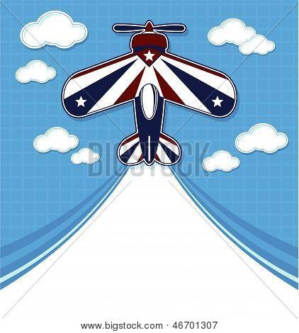 funny acrobatic airplane cartoon