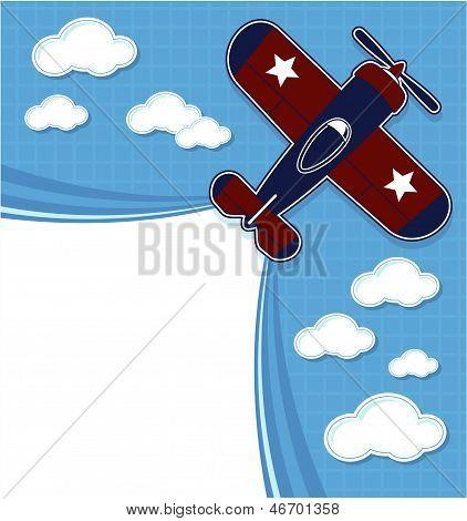 airplane cartoon scrapbook