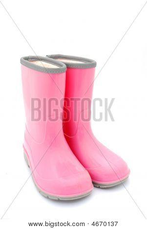 Pink Gum Boots