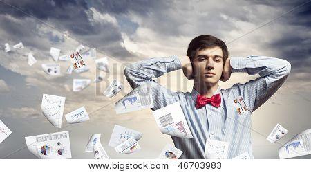 Handsome deaf businessman