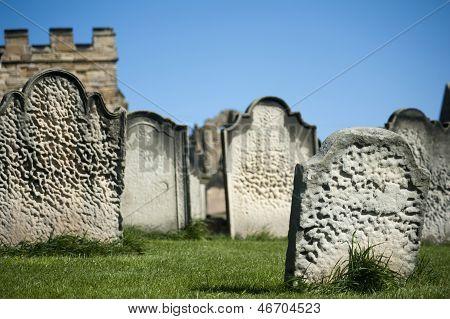 Old Weathered Gravestones