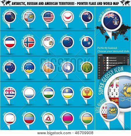 Antarctic, Russia America Territories Pointer Flag
