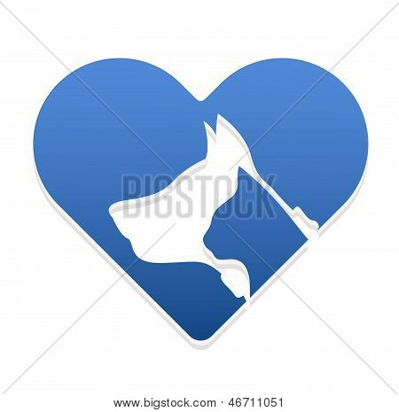 Cat And Dog heart