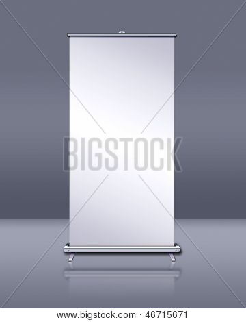 Blank Roll-up Banner Display