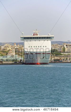 Ferry in the harbor of Heraklion