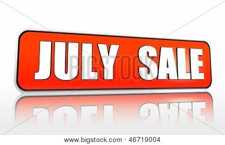 July Sale Orange Banner
