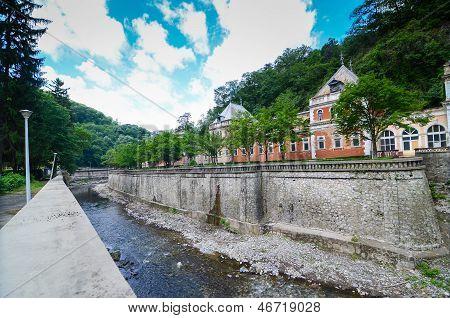 Cerna River in Baile Herculane resort
