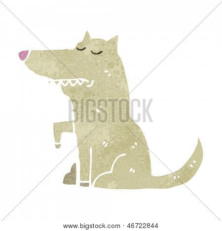 retro cartoon well behaved dog