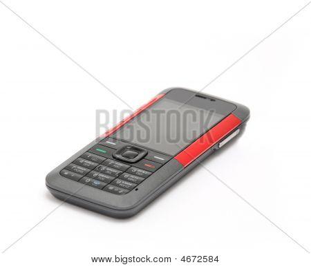 Handy auf weißem Hintergrund