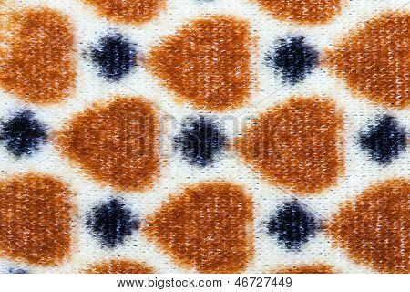 spotted cloth background