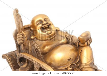 Cheerful Golden Hotei.