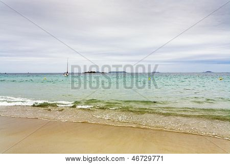 Atlantic Coastline In Cloudy Day, Brittany