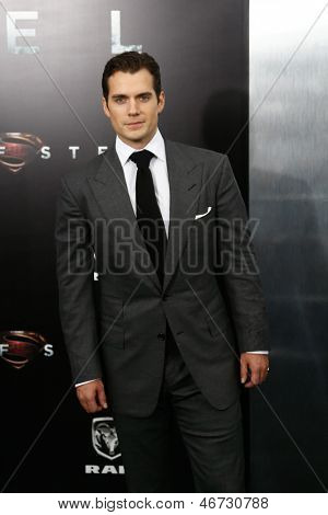 "NEW YORK-JUNE 10: Actor Henry Cavill attends the world premiere of ""Man of Steel"" at Alice Tully Hall at Lincoln Center on June 10, 2013 in New York City."