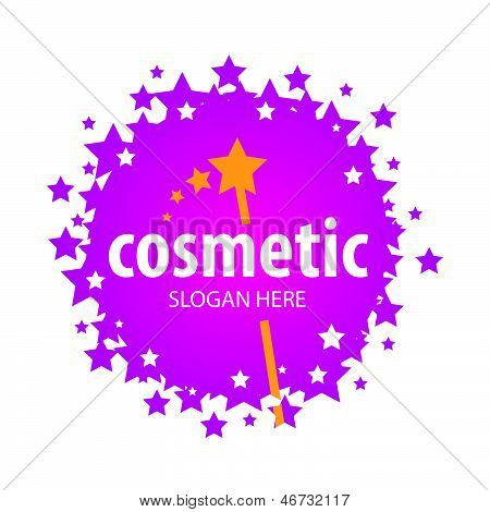 Vector Red creative design Of The Stars For Cosmetics
