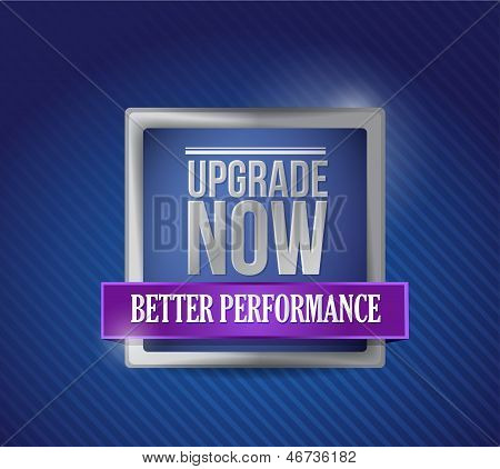 Upgrade Now Blue Shield Illustration Design