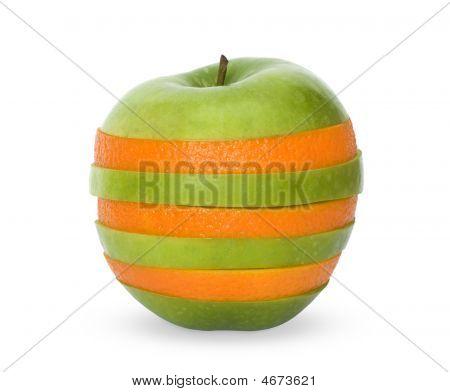 Mixed Orange And Apple