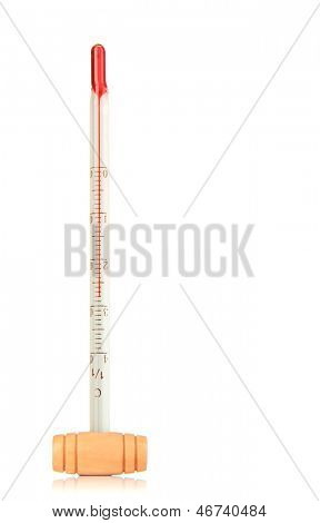 Wine thermometer, isolated on white