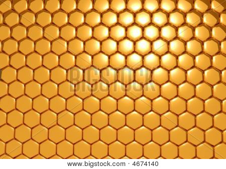 Gold Honeycombs