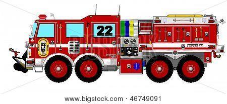Rode borstel Wildland brandweerwagen