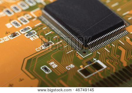 Printed Circuit Board With Electrical Components