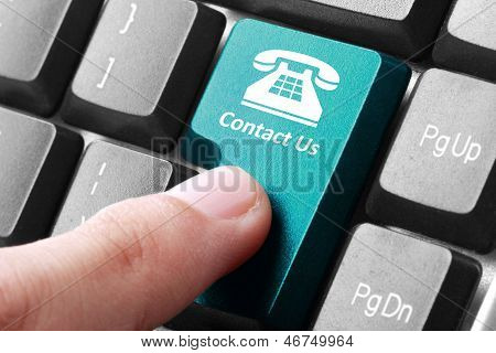 Contact Us Button On The Keyboard