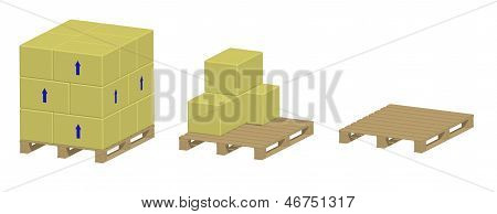 Pallet With And Without Boxes
