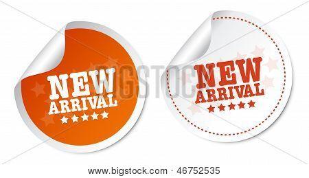 Novos adesivos de chegada