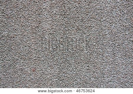 Gray Wall With Fine Gravel
