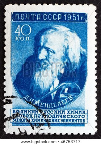 Postage Stamp Russia 1951 Dmitri Ivanovich Mendeleev, Chemist And Inventor