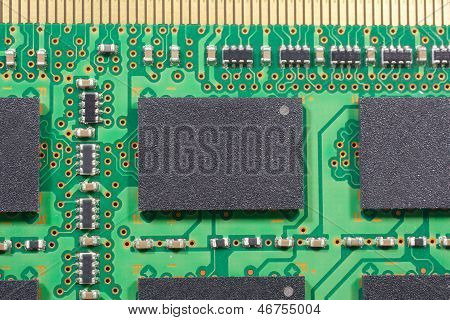 Close Up Printed Electronics And Circuit Chipsets