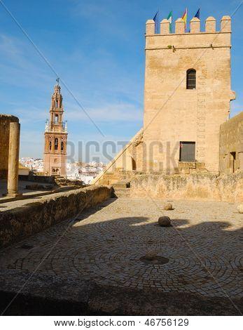 Tower seen from patio Alcazar