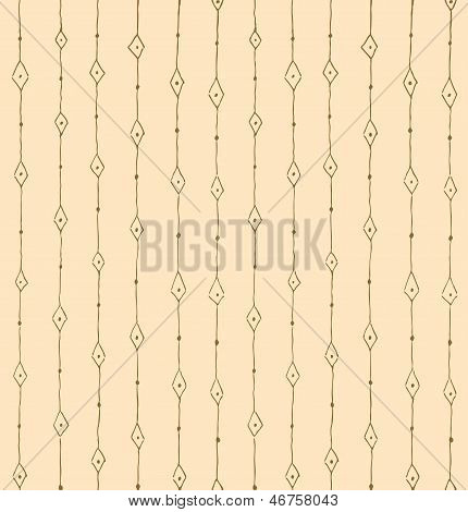 Vector lightbrown background of rhombus and dots