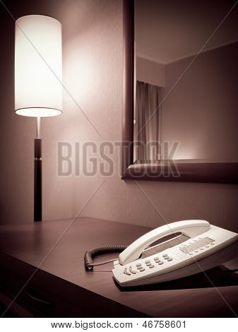 Telephone On The Bedroom Table
