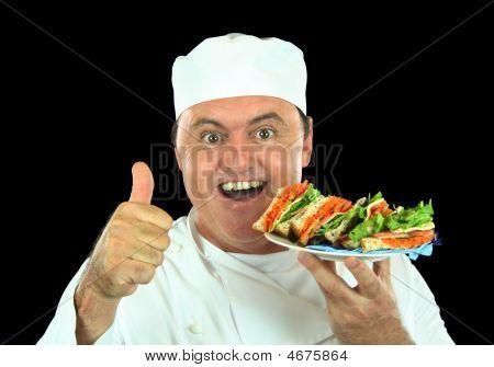 Messy Salad Sandwich Chef