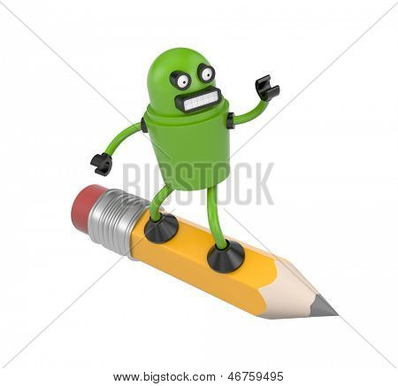 Robot on a pencil