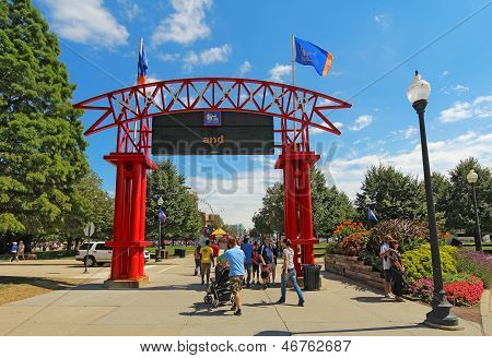 Entrada a Navy Pier en Chicago