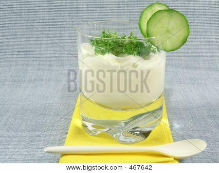 Yogurt With Cucumber And Watercress
