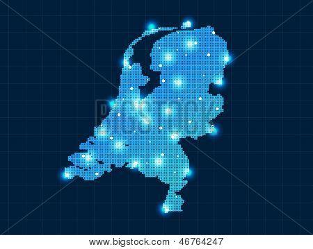 pixel Netherlands map