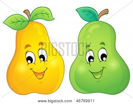 Image with pear theme 3 - eps10 vector illustration.