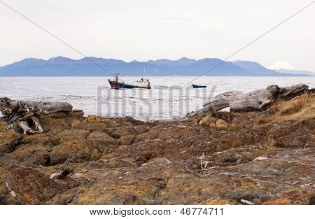 Fishing Boat In The Straits Of Magellan