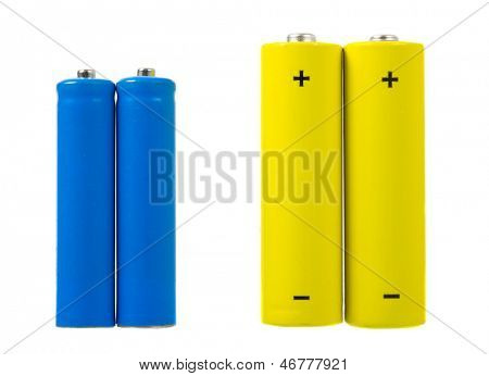 AA and AAA sized batteries