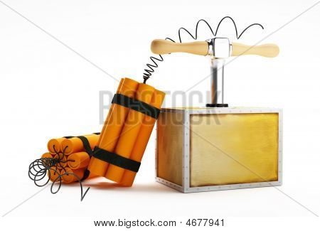 Dynamite On A White Background