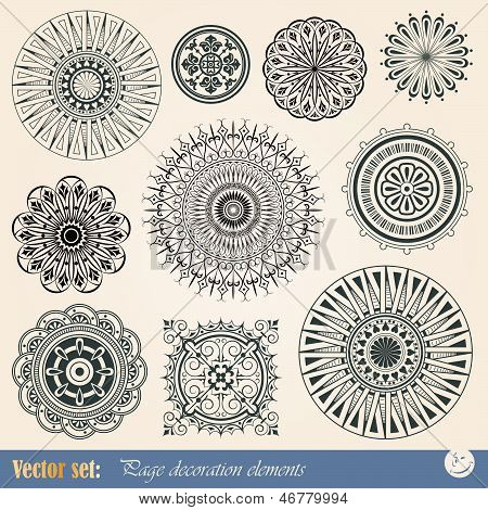 Vector decorative elements for decoration and design
